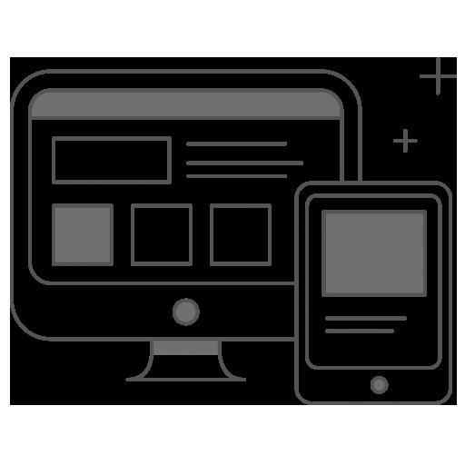 Dessin d'écrans pc et mobile
