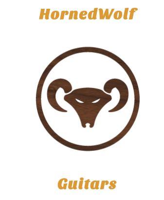 logo pour Hornedwolf guitars, tête de belier