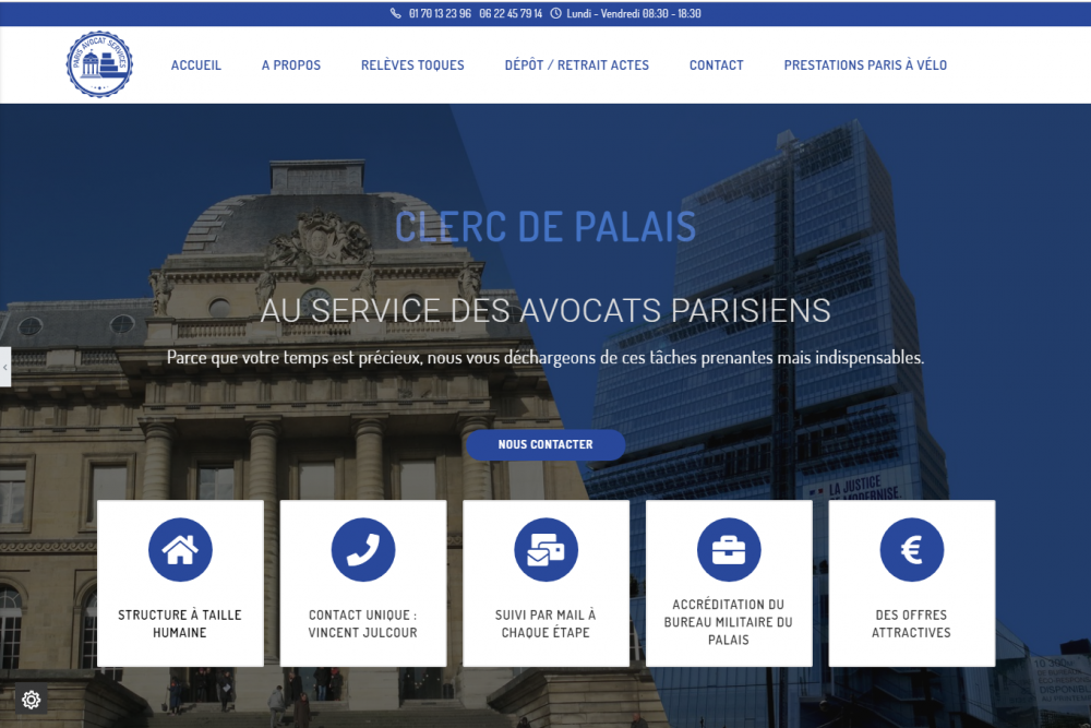 Capture site Paris avocat services